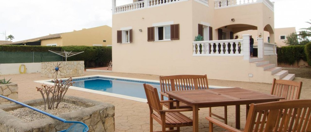 Villa Sally Backyard with Pool